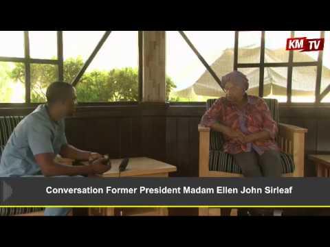Conversation with the Former President of Liberia, Madam Ellen Johnson Sirleaf.