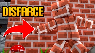 Minecraft: DISFARCE DE TIJOLO - (Esconde-Esconde)