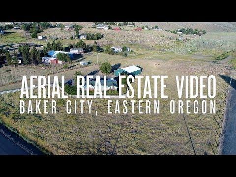 4K Aerial Real Estate Video - Campbell loop, Baker City, Oregon