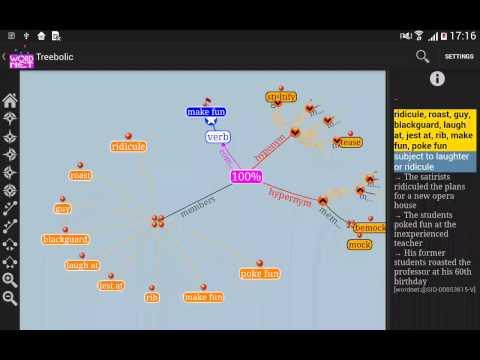 Treebolic WordNet screencast