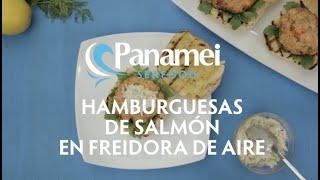 Hamburguesas De Salmón En Freidora De Aire Panamei Mariscos