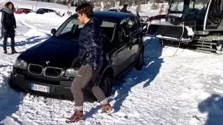 BMW x3 out-road in the snow