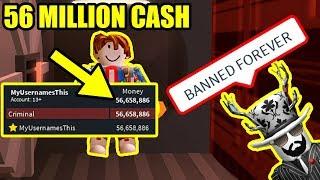 ¡Obtención de 56 MILLONES DE EFECTIVO en JAILBREAK! Roblox Jailbreak Jugador más rico