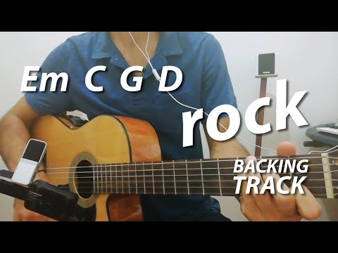Em C G D Chords Guitar Backing Track