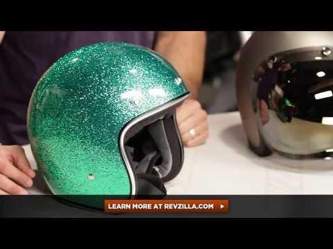 Flat Black, Medium Biltwell Bonanza Half Helmet