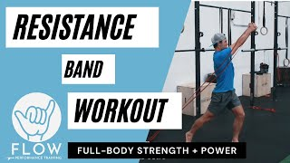 Surfing Resistance Band Workout