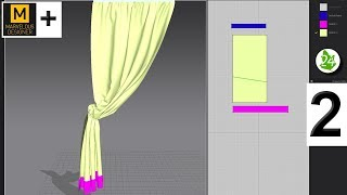 Создание шторы. Секреты. Моделинг. Creating curtains Marvelous Designer 7. MD. Интерьер. Урок 53