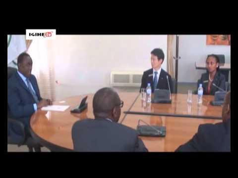 JCI's President Kentaro Harada meets Prime minister  MAKUZA  Bernard