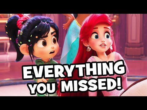 Every AMAZING Wreck-It Ralph 2 DISNEY PRINCESS Detail You Missed - Ralph Breaks The Internet