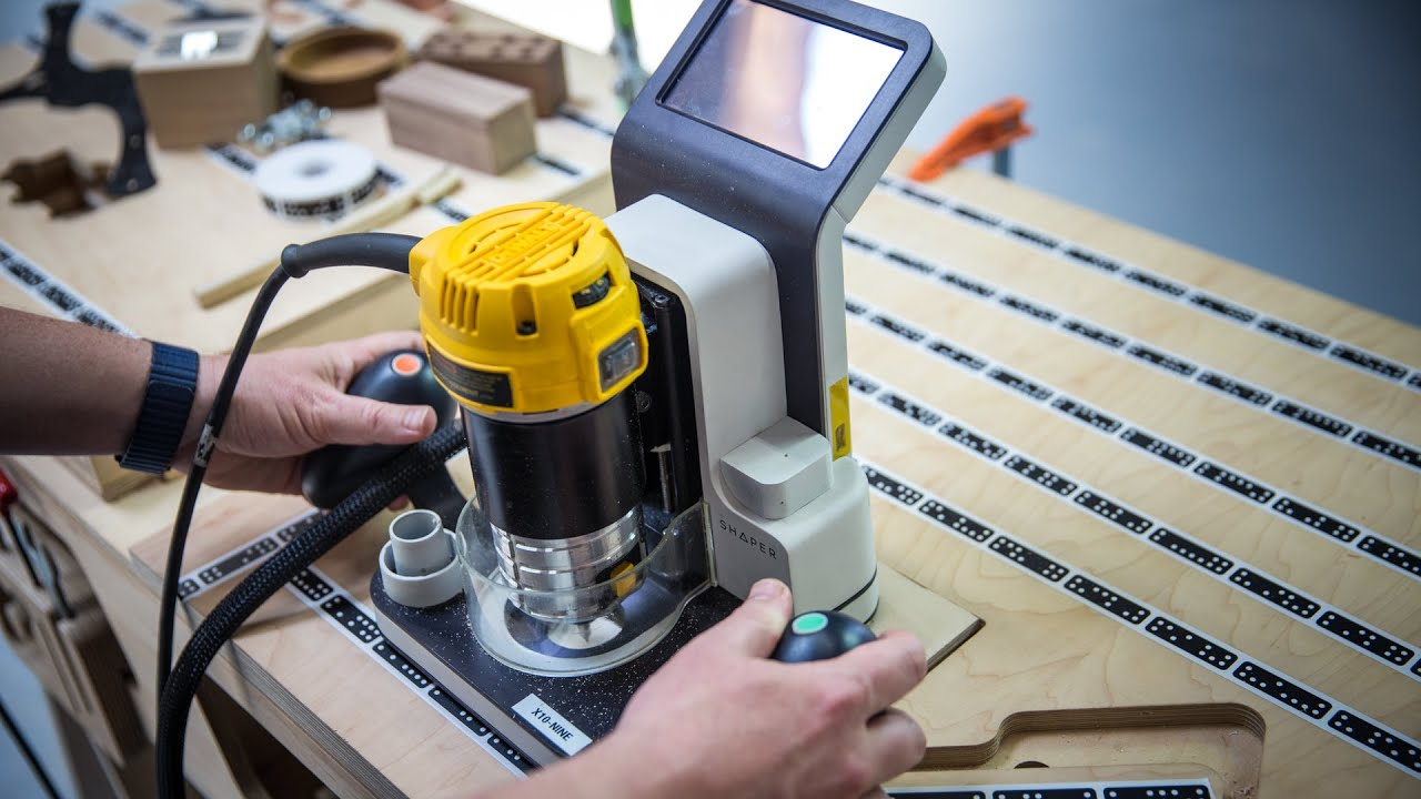 HandsOn with Shaper Origin Handheld CNC Router  YouTube