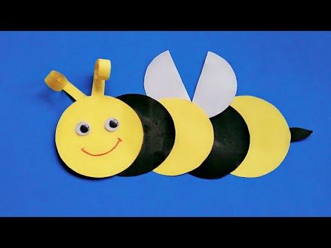Cara Buat Lebah Bee Dari Kertas Origami Kerajinan Kertas Untuk