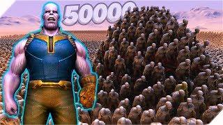 50000 ЗОМБИ против ТАНОСА И СУПЕРГЕРОЕВ - Игра Ultimate Epic Battle Simulator