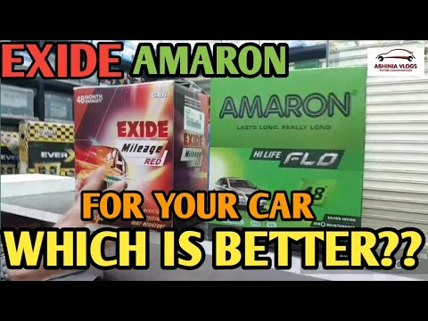 EXIDE And AMARON Battery Comparison And Unboxing -Which Battery Is Better For Your Car?