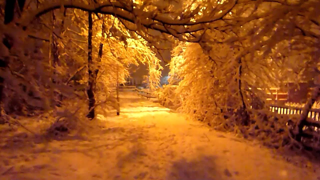 Wallpapers Of Snow Fall A Walk In The Snow At Night Goose Green Wigan Uk Youtube