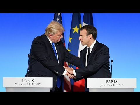 Climat, Syrie, Russie: les principales déclarations de Trump et Macron