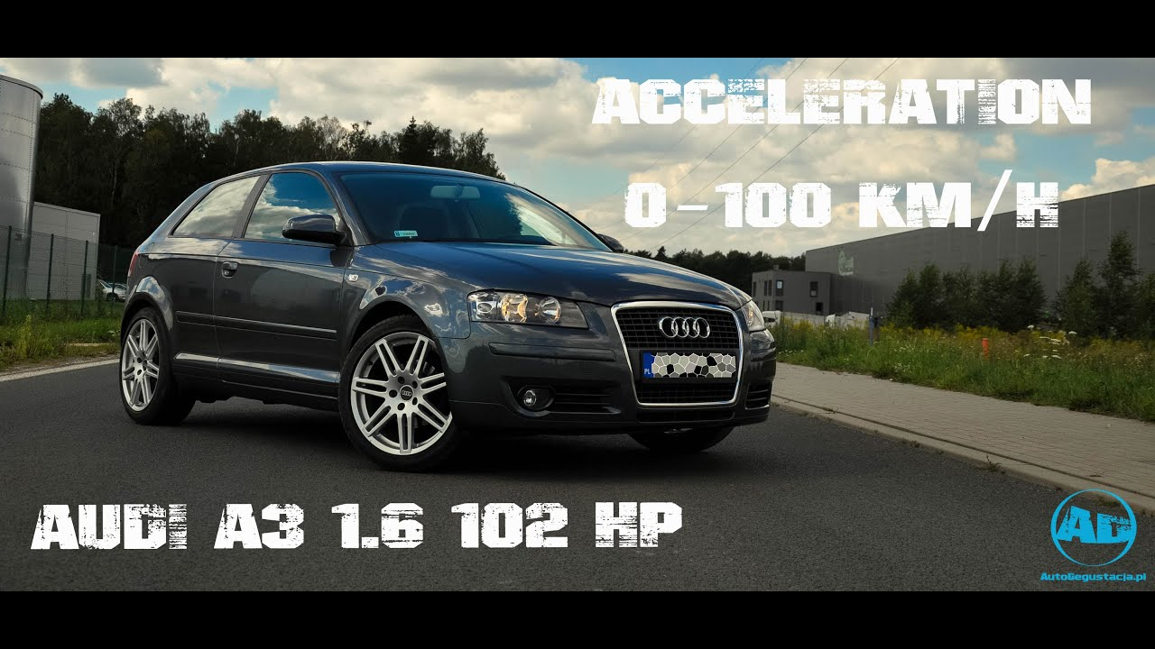audi a3 8p 1 6 102 hp acceleration mt youtube. Black Bedroom Furniture Sets. Home Design Ideas