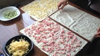Рулет-салат от Ольги Коннор! Сегодня вместо сайры в масле использовала крабовое мясо.