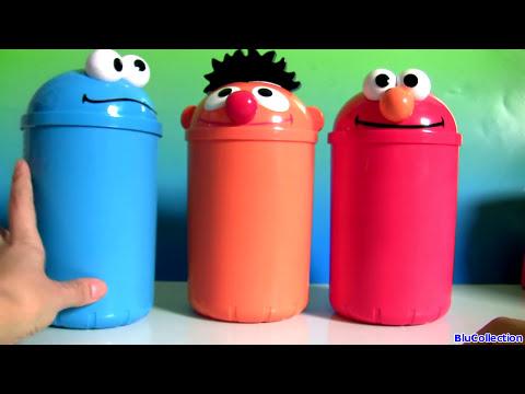 Cookie Monster, Elmo, Oscar Surprises Toys Sesame Street Juguetes Huevos Sorpresa