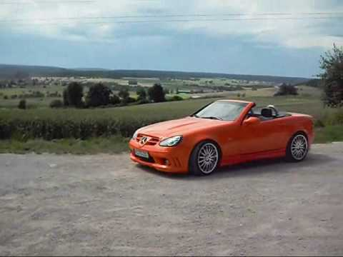mercedes slk r170 tuning v23k in orange youtube. Black Bedroom Furniture Sets. Home Design Ideas