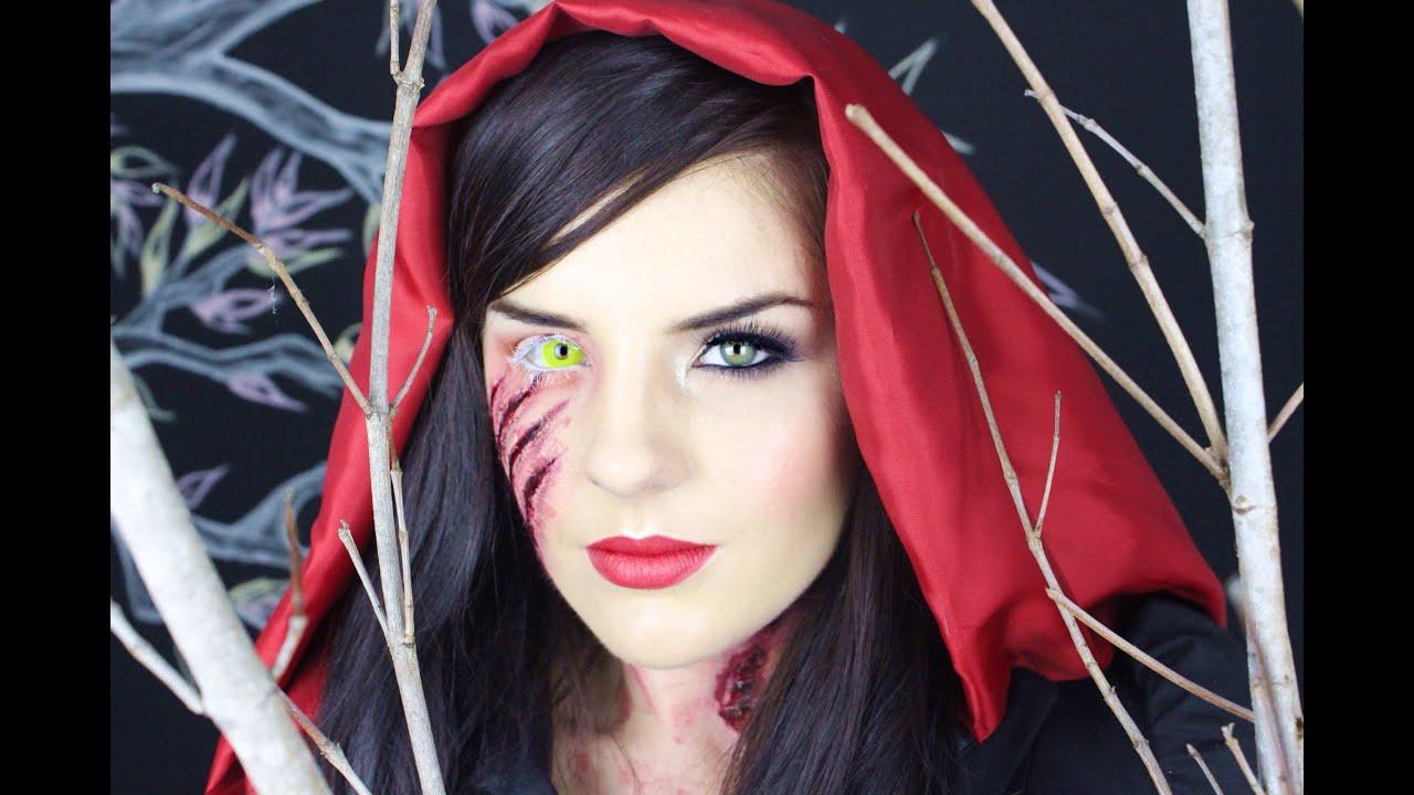 Little DEAD riding hood || makeup tutorial - YouTube