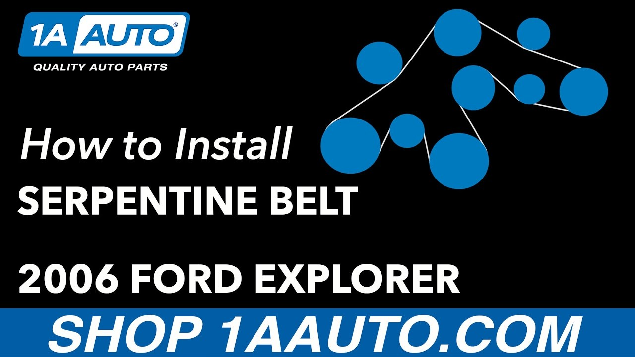 How To Replace Serpentine Belt V8 4 6l 06 10 Ford Explorer 1a Auto