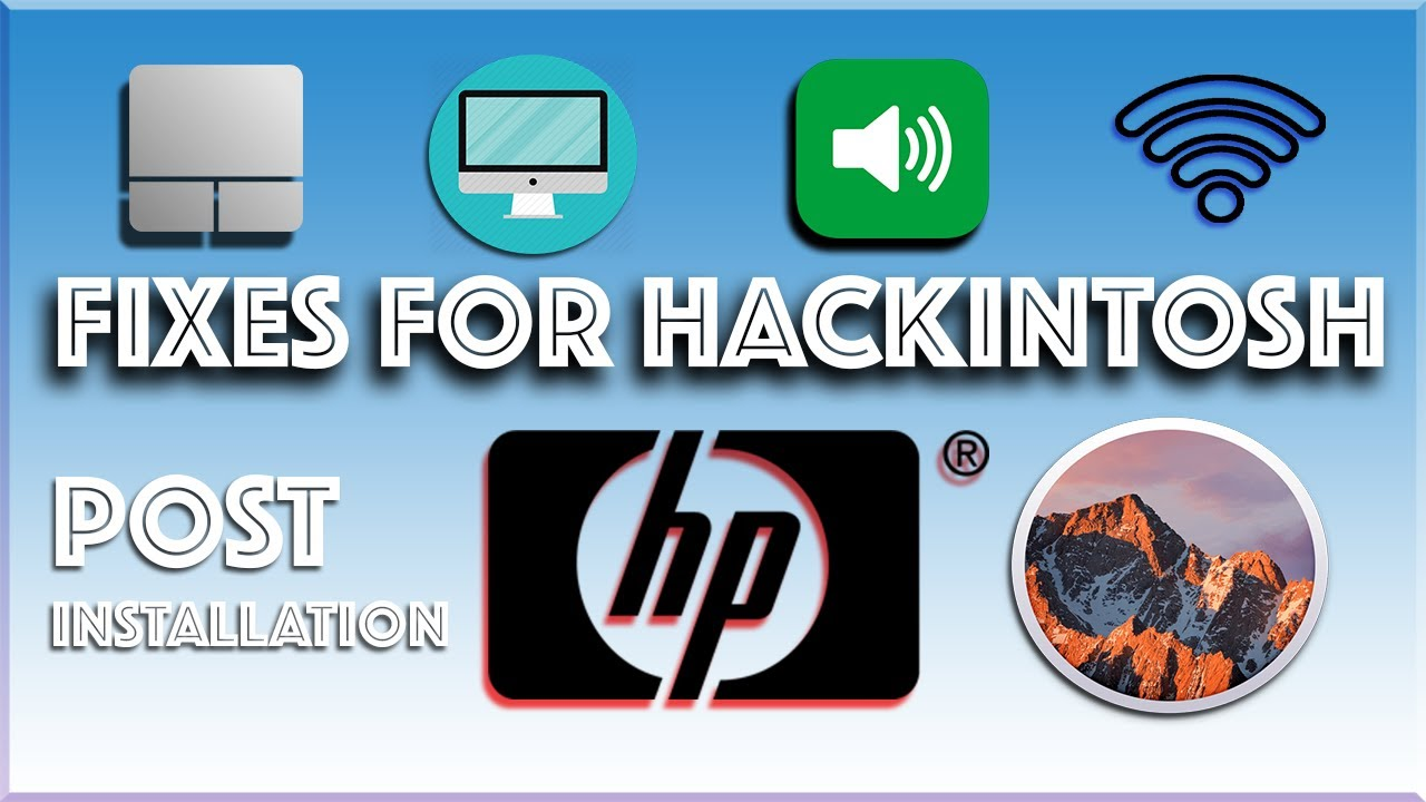 Turn Hp 8460p into a fully functional hackintosh (macOs