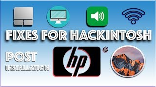 How To install hackintosh/macintosh/mac on hp laptops/pc (specially hp laptops - post installation)