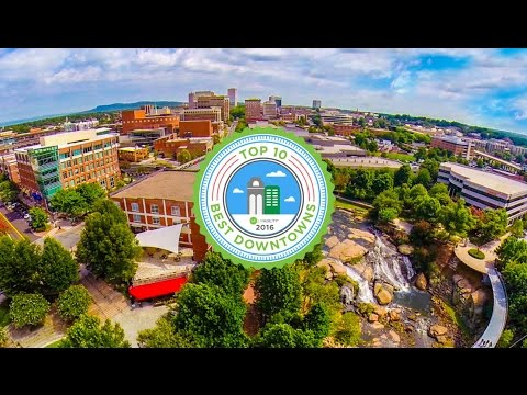 Downtown Greenville SC   Falls Park   Kalyn and Robert