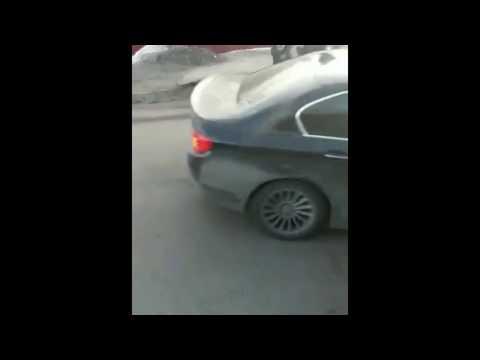 Бешеная BMW в Алматы, Crazy BMW in Almaty