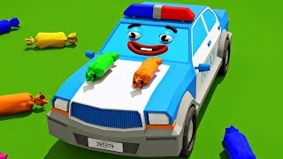 Police Car & Cars Friends on the Playground Cars Cartoons for Kids