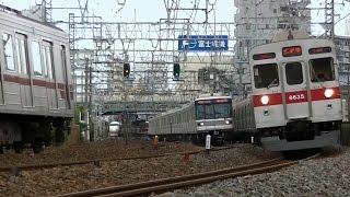 平日朝8時台の東武スカイツリーライン西新井駅付近