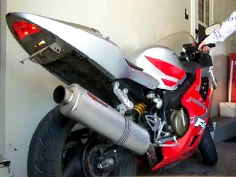 2002 CBR 600 F4i, Erion (slip-on exhaust and mid-pipe ...