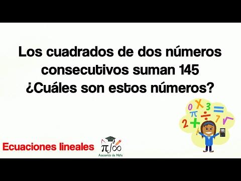 Los cuadrados de dos números consecutivos suman 145 ¿Cuáles son estos números?