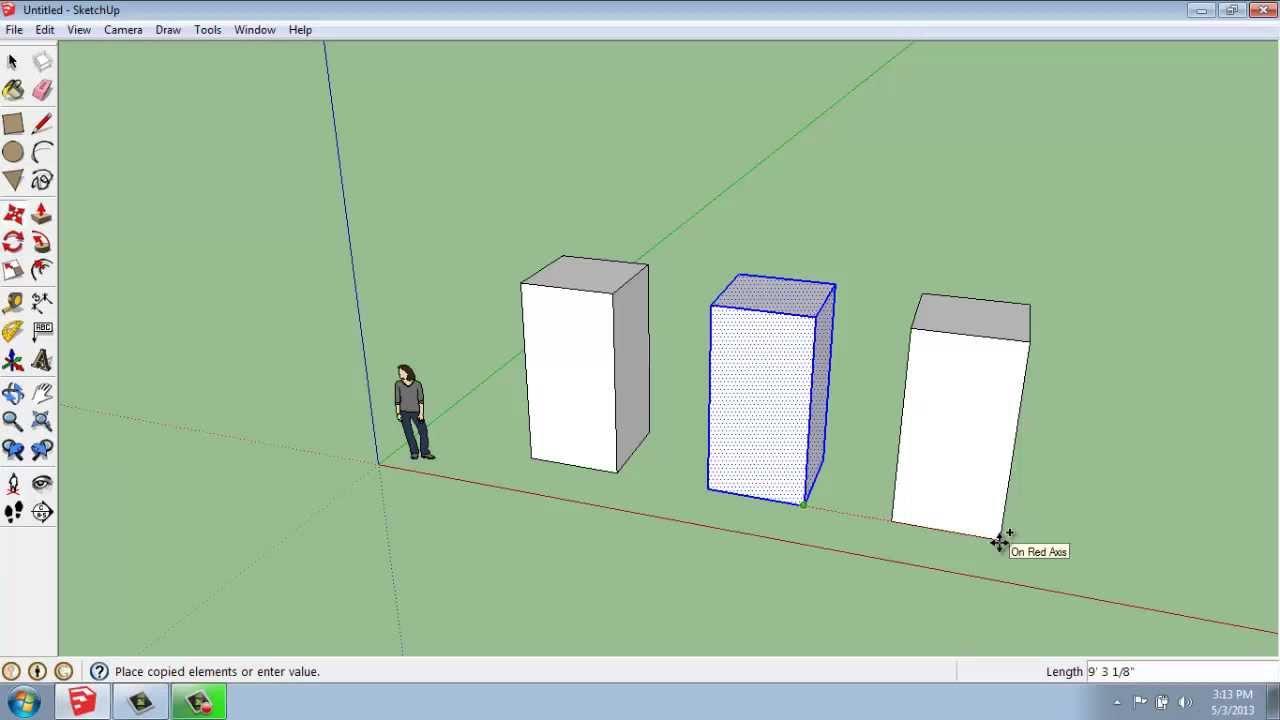 copy tool in sketchup