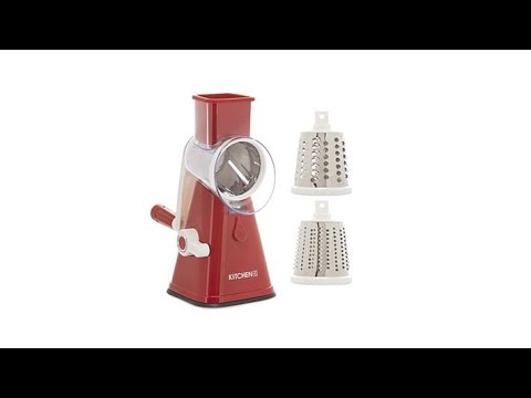 House 2 Home Rotary Countertop Suction Slicer and Grater With 3 Barrels