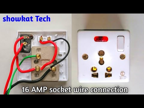 How To Make 16 Ampere Switch Socket Wiring Connection 16 Amp Socket Board Electric Power Socket Youtube