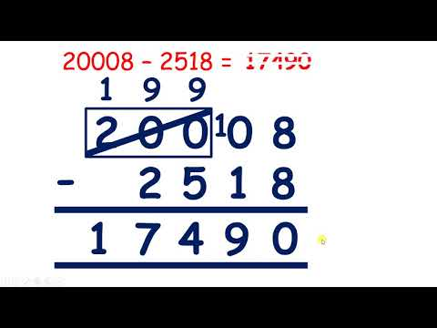 Exchanging across zero with column subtraction
