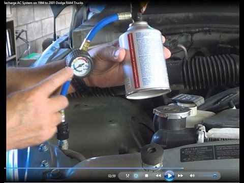 How To Recharge AC System On 1995 Dodge RAM Trucks Using DIY Products