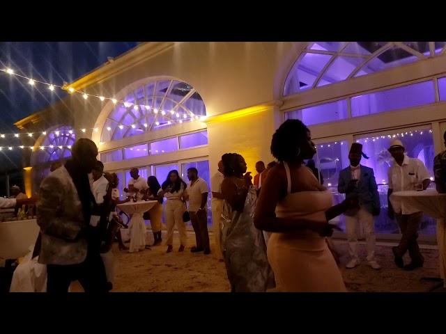 Cupid Shuffle Slide Line Dance Wedding Reception Cocktail Ritz Carlton St. Thomas