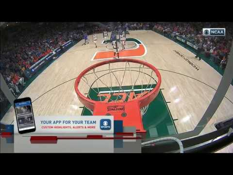 Duke Blue Devils vs Miami Hurricanes basketball 2017 Feb  25
