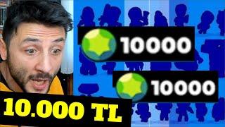 20.000 TAŞ 😱 Toplam 47 KARAKTER Çıktı! (Türkiye Rekoru) 10.000 TL Brawl Stars