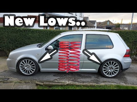 How To Lower A Mk4 Volkswagen Golf Project Shed Gets Dropped Youtube