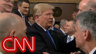 President Trump enters House chamber for State of the Union