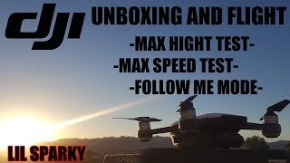 DJI SPARK (FLIGHT TEST)Max Height ,Max Speed And Follow Me Mode