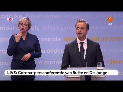 LIVE: Corona-persconferentie van Rutte en De Jonge
