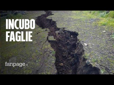 Terremoto Etna, la faglia si allarga tra case inclinate e voragini