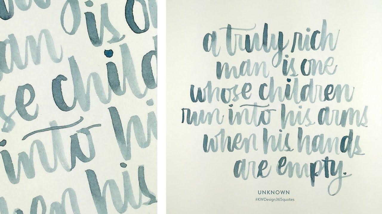 Brush lettering instagram project