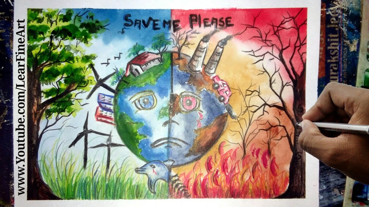 Deforestation Poster Ideas Drawing
