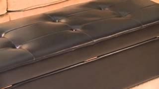 Bradford Bonded Leather Storage Ottoman