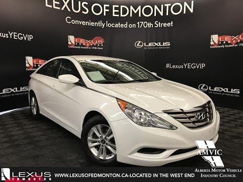 Used White 2013 Hyundai Sonata Gl Walkaround Review Beaumont Alberta Youtube
